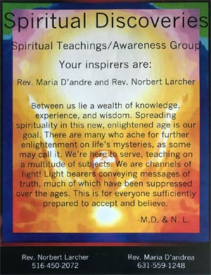 Spiritual Discoveries with Rev. Maria D'Andrea and Rev. Norbert Larcher